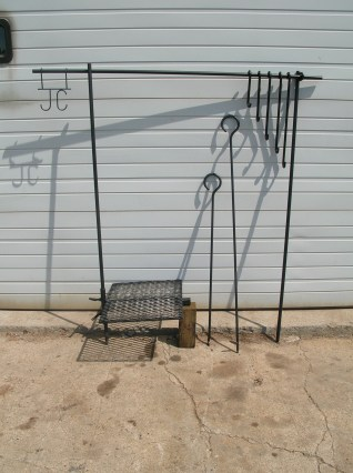 Black Friday is for big stores. Fathers day is for welding shops. This outdoor cook set was also a gift.