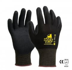 Black Bull Sandy Nitrile Dip Gloves