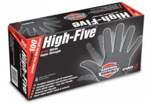 High Five Black Nitrile Super Strength Gloves