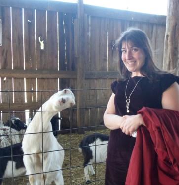 Circle G Ranch petting zoo pose