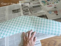 Guest Room Detail: Houndstooth Lampshade DIY