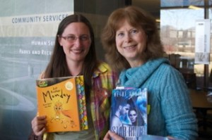 Anna Skarie and Heidi Skarie at the Bloomington Writers Festival.