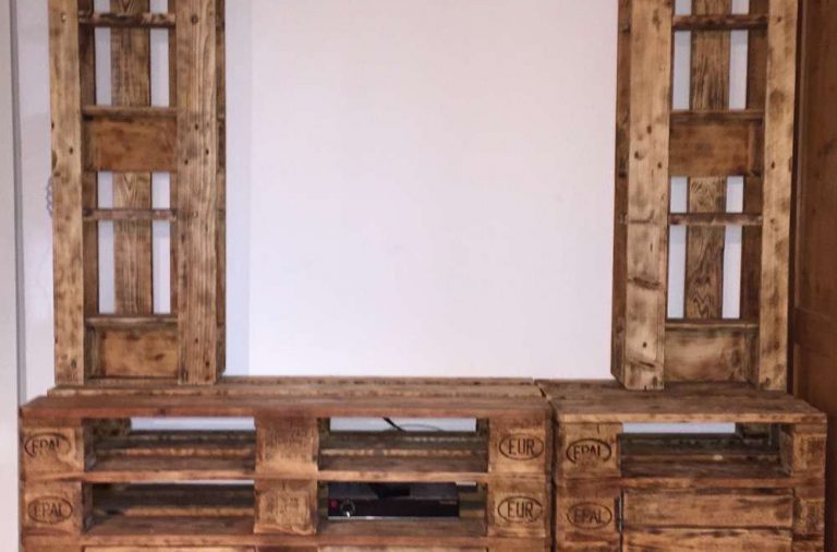 Ein TV Möbel aus Paletten selber bauen - Heimwerkerking - holz mobel aus europaletten bauen