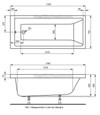 Ideal STANDARD Washpoint Krperform-Badewanne 170 x 75 cm ...