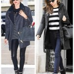 Comfy Chicness: Striped Sweater and Oversized Coat