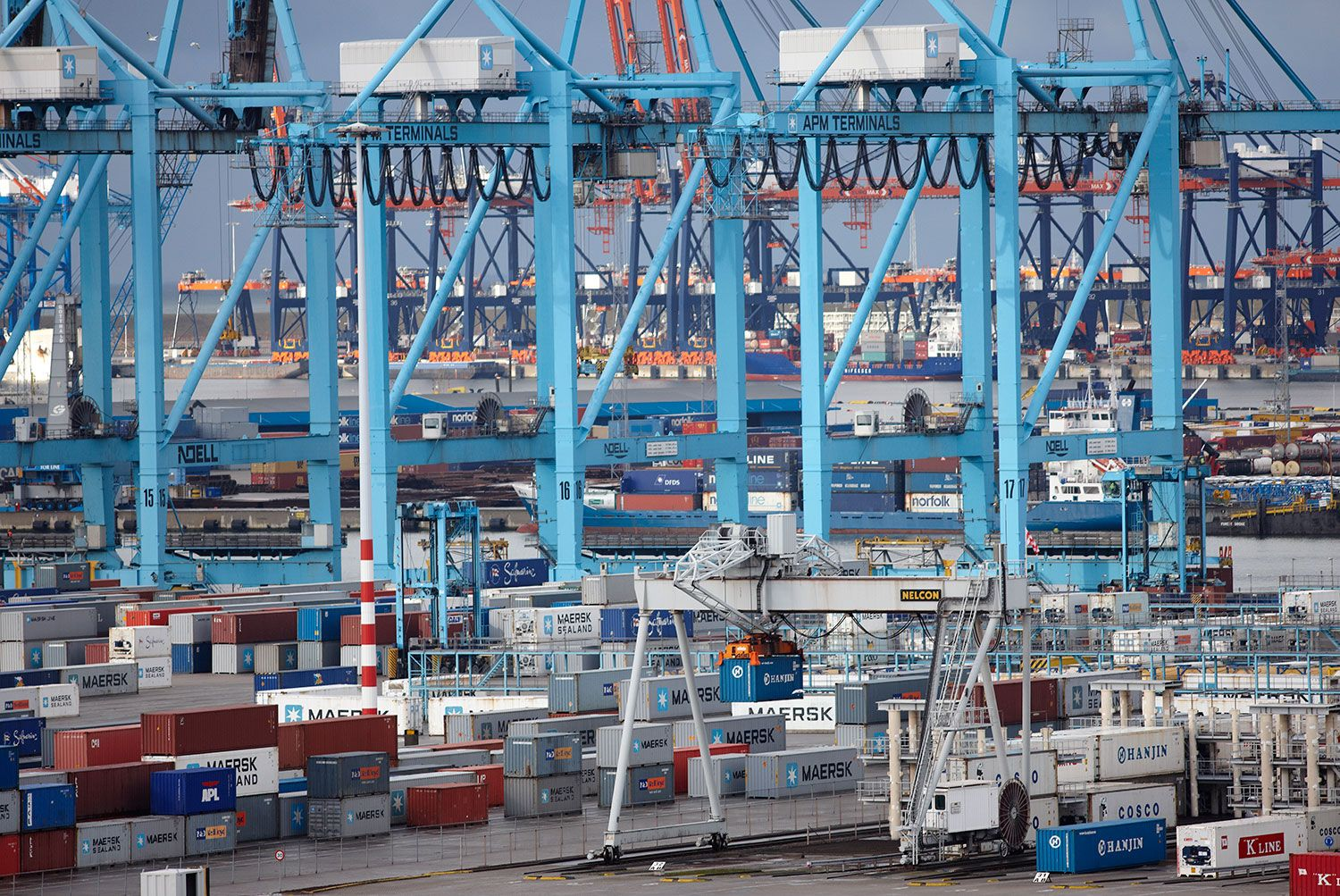 Record Container Shipment Arrives In Rotterdam Port