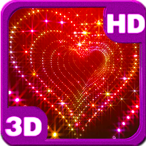 Sparkle 3D Glitter Heart Live Wallpaper for Android | Hello Android