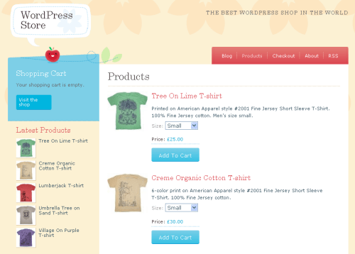 crafty cart wordpress theme Crafty Cart WPEC theme