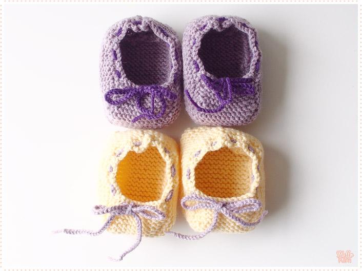 Chaussons-d-ete_tricot-layette_violet-jaune_2