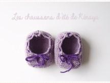 <span>Tricot layette</span> Les chaussons d'été de la petite Kénaya