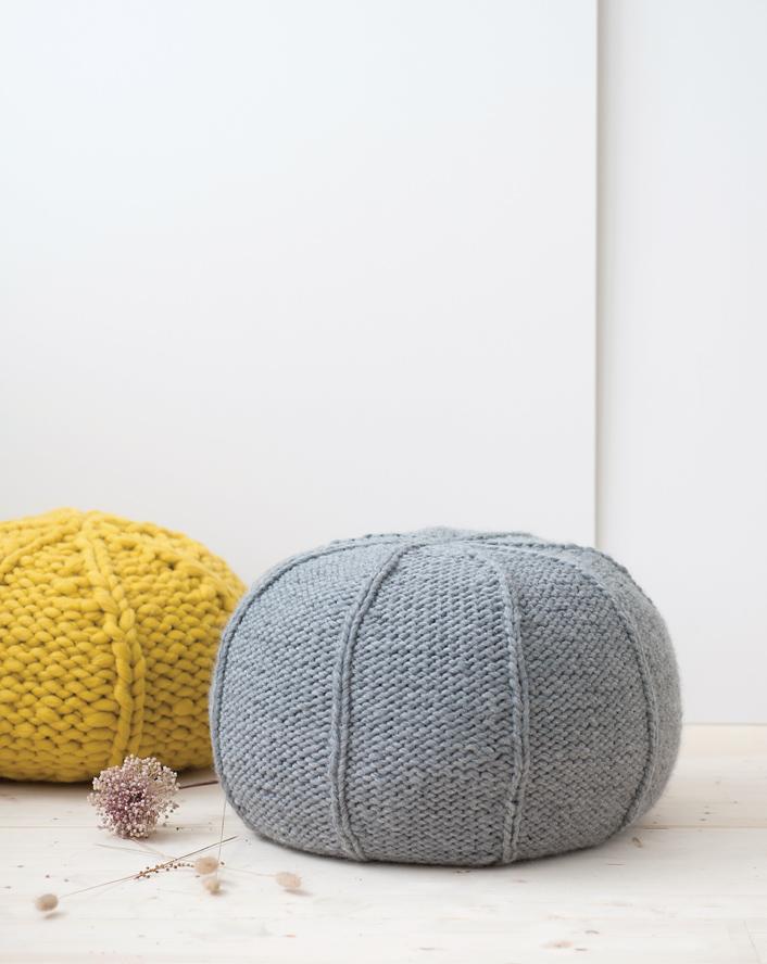 Pouf, Tricot Zen, éditions Mango - Charlov, HelloKim, Roxanne Marie Galliez