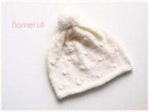 <span>Tricot layette</span> Le bonnet Lili
