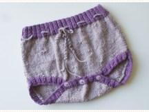 <span>Tricot layette</span> La culotte bicolore