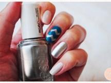 <span>Nail art</span> Chevronnée