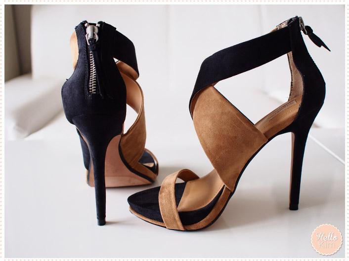 Chaussures stilettos ouvertes Zara - vue talon et côté >> HelloKim
