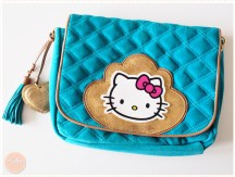 <span>Vide dressing</span> Sac en cuir turquoise Hello Kitty by Victoria Couture