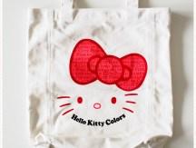 <span>Vide dressing</span> Shopping bag en toile blanc et rouge Hello Kitty