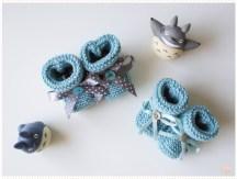 <span>Tricot layette</span> Petits chaussons pour de petit petons