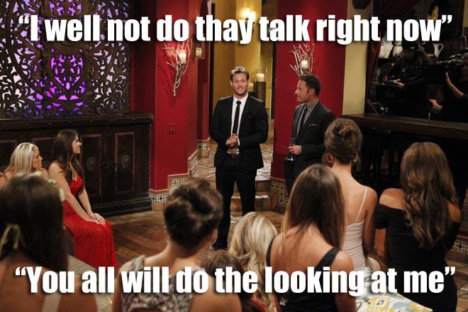 Bachelor Juan Pablo talks to the 27 Bachelorettes.