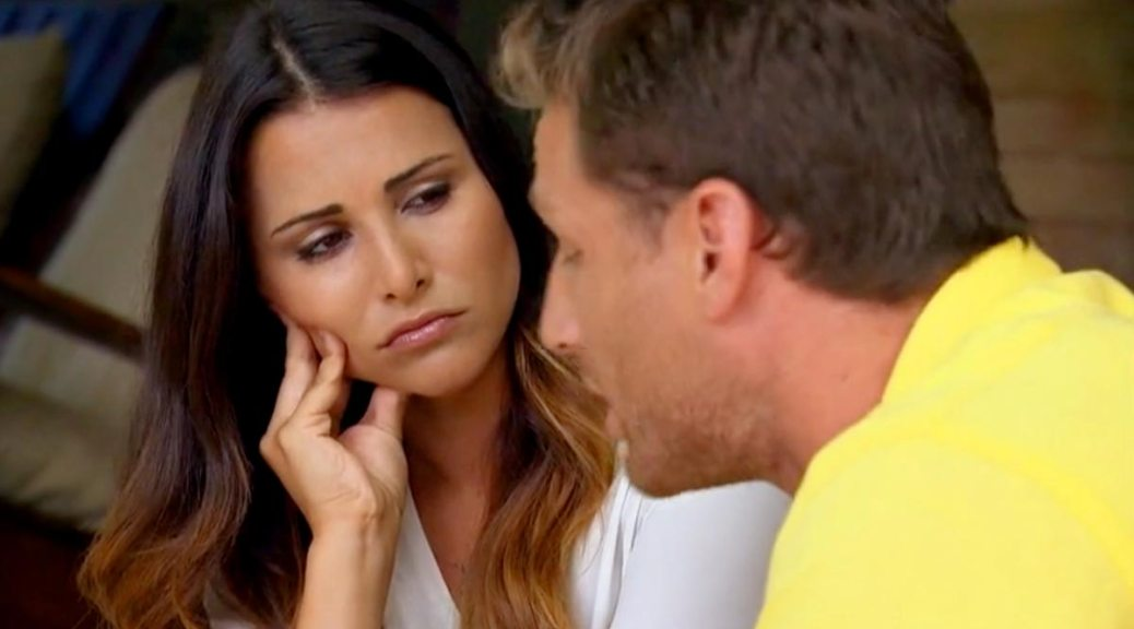 The Bachelor Juan Pablo and Andi argue in St. Lucia before she leaves.