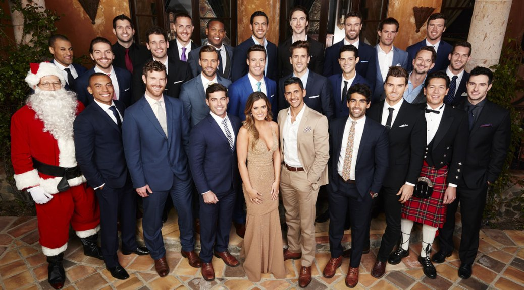 ABC's The Bachelorette JoJo Fletcher poses with the Season 12 Bachelors.