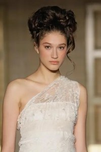 Chic chignons for Audrey Hepburn inspired bridal ...