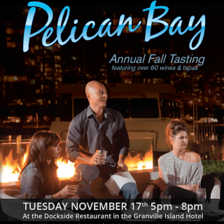 The Pelican Bay Fall Wine Tasting returns to Dockside November 17th