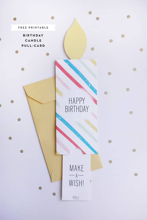 FREE PRINTABLE BIRTHDAY PULL CARD - free printable birthday card template