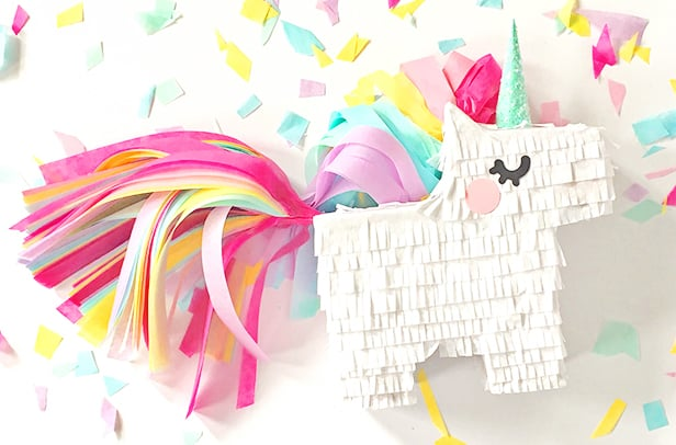 DIY MINI UNICORN PINATA WITH FREE PRINTABLE TEMPLATE - unicorn template
