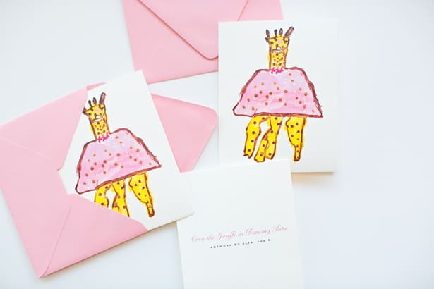 TURN YOUR KID\u0027S ART INTO PERSONALIZED NOTE CARDS