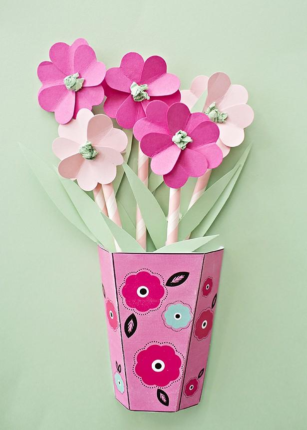 how to make handmade paper flower bouquet