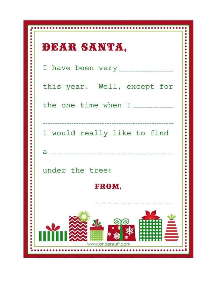 Printable Christmas Wish List Template Quotes