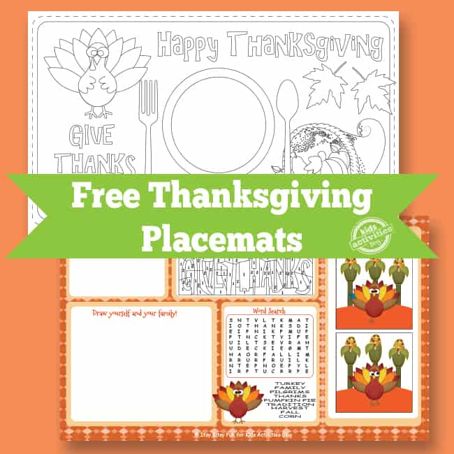 8 FESTIVE REE PRINTABLE THANKSGIVING PLACEMATS