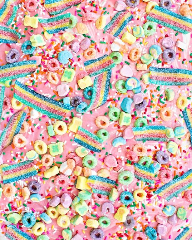Wallpaper Hello Fall Magical Rainbow Unicorn Candy Bark