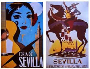 Poster from 1966 by José Álvarez Gámez, and from 1957 by Ramón Blanco Casal