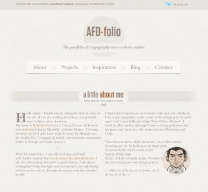 Screen shot of the All for design website