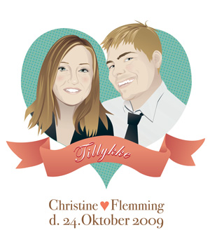 Flemming and Christines wedding card