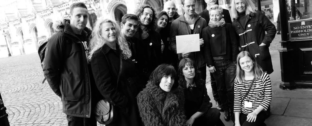 Presenting the petition in Westminster by Greg Williams