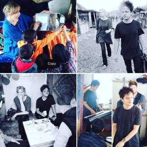 Sophie Dahl and Jamie Cullum visit Calais refugee camp