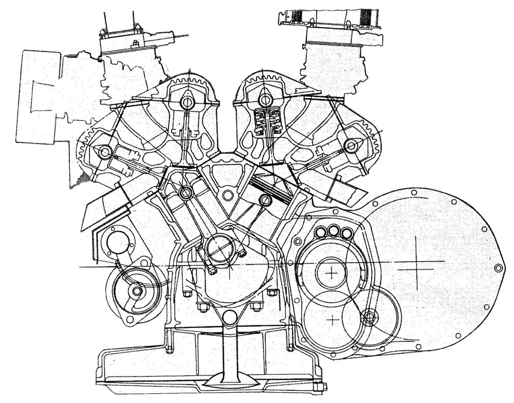 simple v twin engine diagram