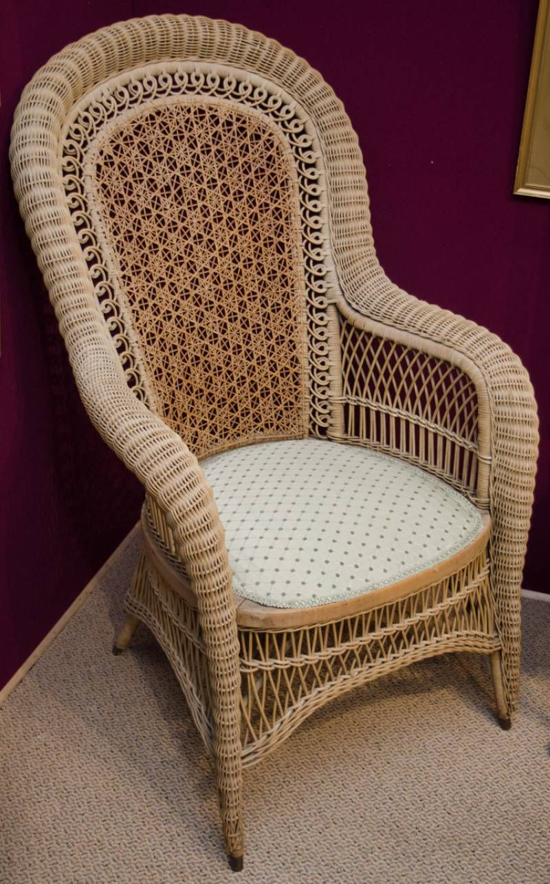 Antique Wicker And Cane Conservatory Chair Antique