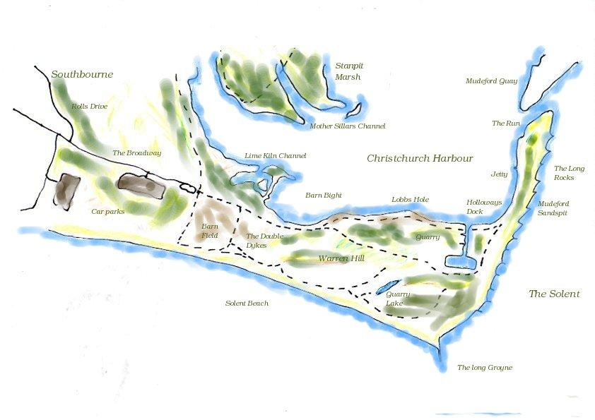Hengistbury Head Maps and Diagrams