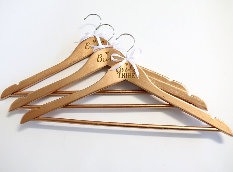 Coat Hanger Custom Rose Gold Wooden Hanger With