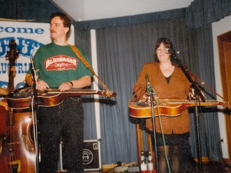 A pefrormance of Nugget in Austria 1994, Sally Van Meter on stage with us.