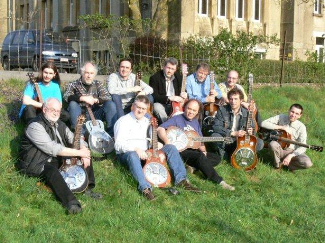 Dobro class at Musique Acoustique in Virton, Belgium, 2010
