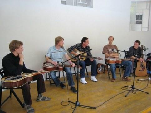 Dobro workshop at Banjo Jamboree, Čáslav 2011, CZ