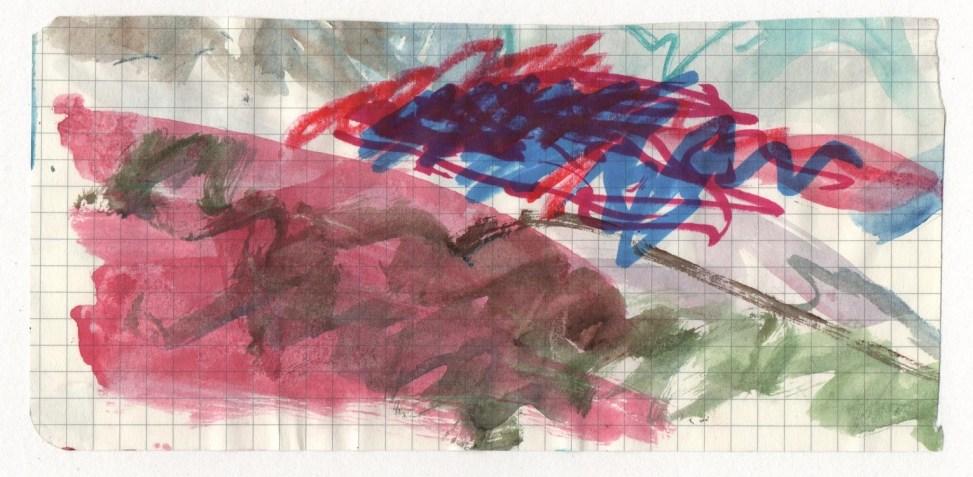 Glacier Studiy (Patagonia). Watercolour, ink, on paper.