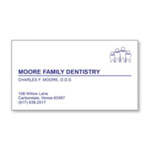 Watermarked Business Card Imprinted 1-Color 35 in x 2 in 500/Pk