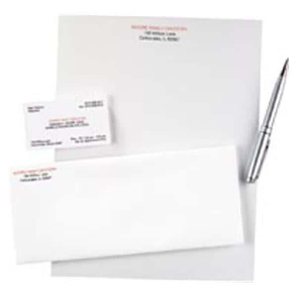 Watermarked Business Card Imprinted 2-Color 35 in x 2 in 500/Pk