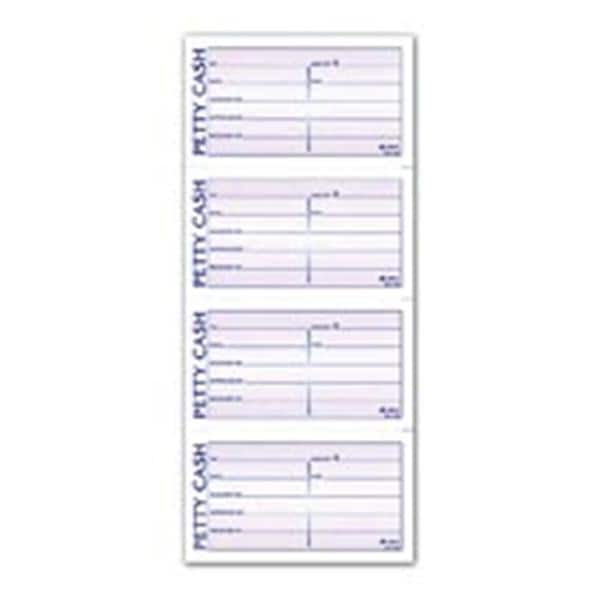Adams 2-Part Petty Cash Receipt Book 55 in x 11 in 200 Sheets